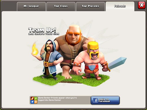 Clash of Clans Social: screenshots, UI