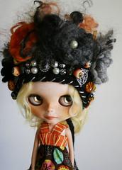 Always Watching (elifins) Tags: ooakblythehat halloween skulls eyeballs elifins handmade felted wool