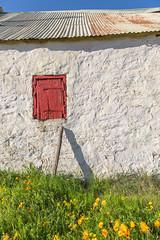 IMG_2957 (francois f swanepoel) Tags: corrugatediron flowers glyniswalbrugh karoo namakwalandblomme namakwalandflowers noordkaap northerncape red rooi shed sheds sinkplaat skuur white wit