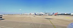 Dsseldorf Airport (josbert.lonnee) Tags: stitchedpanorama panorama airport apron airportterminal airplanes aircrafts airliners megapixels dsseldorfairport dsseldorfflughafen flughafendsseldorf