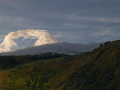 snaefellsjokull2 (mudokkon) Tags: naturaleza nature paisaje landscape landscapes islandia cloud iceland nube volcan volcano sunset cielo sky scenery snaefellsjokull