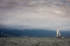 Sunset Sailing Puerta Vallarta (Spencer_Doyle) Tags: sailboat sailing puertavallarta mexico canon travel clouds mountans