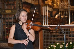 Polina Senatulova, violinsta en la Catedral