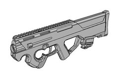 Full Size Magpul PDR (Personal Defense Rifle) Free Carbine Paper Model Download (PapercraftSquare) Tags: 11 carbine fullsize gun magpul magpulpdr pdr rifle