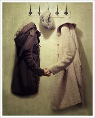 *27* Friends (*iNiNa* Tracey Barrow Photography) Tags: friends selfportrait photomanipulation hands friendship coat sp 365 coats coatrack encouragement 365days