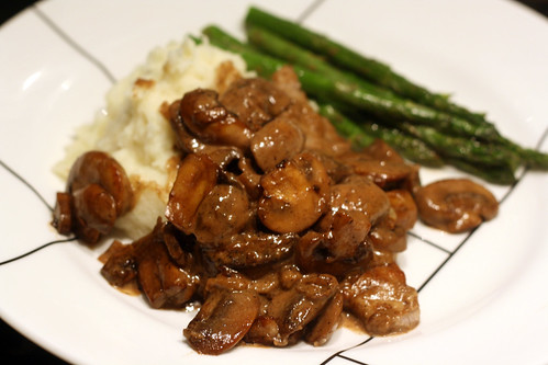 Veal Scallopine Madeira Mushrooms