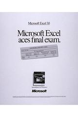 Microsoft Excel 3.0 Advertisement 1990