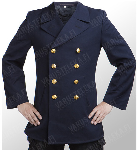 Varusteleka navy blue second hand army pea coat