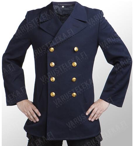 Varusteleka navy blue second hand army pea coat