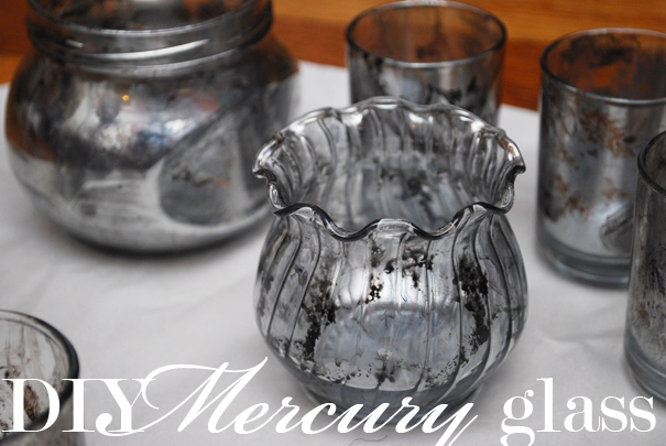 inspired entertaining diy mercury glass votives - How To Make Mercury Glass