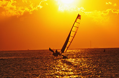 Sunset Breeze (marcovdz) Tags: sunset lighthouse france sailboat vent boat marseille sailing wind catamaran provence bateau voile phare coucherdesoleil planier