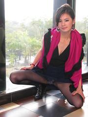 深圳U2中国影像网摄影活动 (zikay's photography(no PS)) Tags: girl model 模特 露底 restaurant 走光