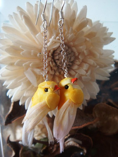 ♥ Angry Birds ♥ Earrings ♥ Yellow ♥