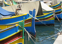 Maltese fishing boats, Marsaxlokk. (IMG_0181) (Robert G Henderson (Romari).) Tags: boats fishing harbour malta maltese marsaxlokk
