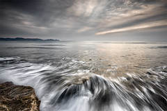 The End of a Dream (DavidFrutos) Tags: costa seascape beach water rock clouds reflections coast agua playa paisaje murcia filter nubes nd alfa alpha filters seda roca reflejos waterscape silks filtro sigma1020mm filtros gnd neutraldensity sedas percheles sonydslr densidadneutra davidfrutos 700 singhraygalenrowellnd3ss
