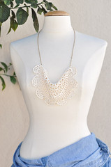 Anthropologie lace necklace DIY