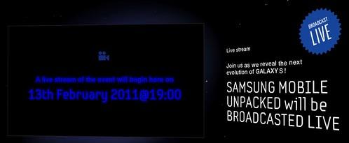 Live Broadcast next samsung galaxy  S