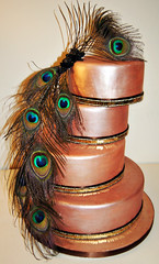 Peacock Art Deco Cake (MammaJammaCakes(very behind)) Tags: 1920s cake bronze 1930s weddingcake copper artdeco flappers sequins headwear peacockfeathers headdresses feathercake bespokecake 1920scake artdecowedding artdecocake peacockweddingcake metallicweddingcake copperweddingcake 1930scake bronzeweddingcake