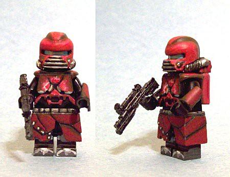 Custom minifig Evil Spaceman