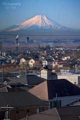 When I see Mt. Fuji = I'm happy!  ( Photography By Vicki ) Tags: snow japan japanese tokyo nikon long fuji mt view away mount fujisan 100 miles saitama nikkor distance incredible  omiya volcanoe d90