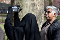 (aka Jon Spence) Tags: camera london video hijab explore hydepark niqab camcorder speakerscorner londonist burka