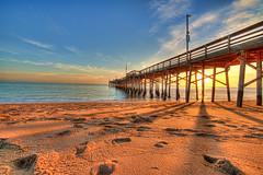 "pier (Eric ""Claptn"" Nelsn) Tags: ocean california sunset beach sand day newportbeach clear balboapier"