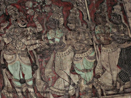 Virupaksh temple ceiling painting