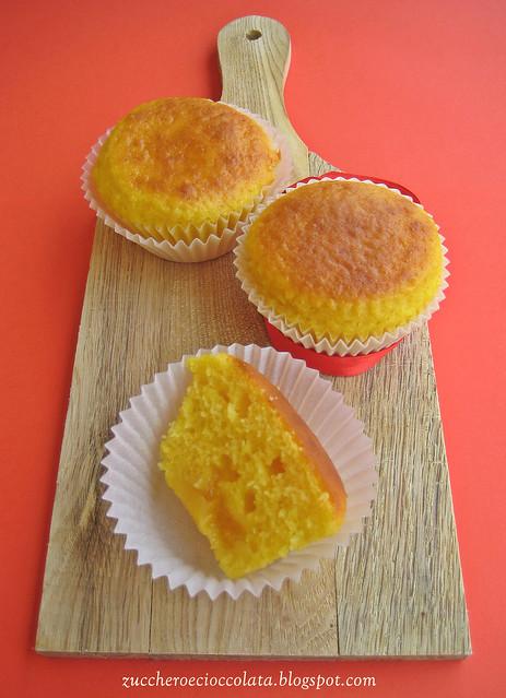 muffins agli agrumi con marmellata di arance