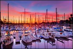 Marina del Rey, California (szeke) Tags: ocean california sunset usa sun clouds sailboat landscape boat us losangeles unitedstates pacific hdr marinadelrey 2011 photomatix canon7d exposurefusion mygearandme