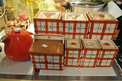 Auction Haul (neshachan) Tags: vintage ceramic hall retro teapot canisters