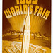 Sepia Art Deco Advertisement for World's Fair of 1939