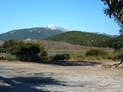 Parking de Cala di Furnellu : Uomu di Cagna enneigé
