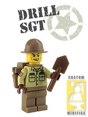 Drill Sgt. 2 (Shmails) Tags: lego custom drill sgt minifigure brickforge shmails