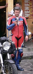 biker februar (33) (skintightj2009) Tags: man male guy leather boots helmet suit biker racer dainese alpinestars