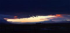 Dark clouds over Sjárvarborg (jonrrr) Tags: iceland ísland sjór bátur skagafjörður fiskur brú torfbær