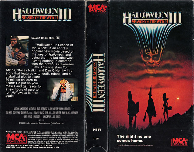 HALLOWEEN III SEASON OF THE WITCH (VHS Box Art)