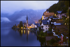 Hallstatt - Rainy Night in Hallstatt on National Geographic (Yen Baet) Tags: blue vacation lake mountains alps church nature water rain night landscape photography austria photo sterreich twilight europe photos peaceful republik rainy photograph serene bluehour photocontest vote tranquil austrian nationalgeographic waterscape finalist centraleurope natgeo hallstatt austrianalps exceptionalexperiences republiksterreich yenbaet rainydayinhallstatt
