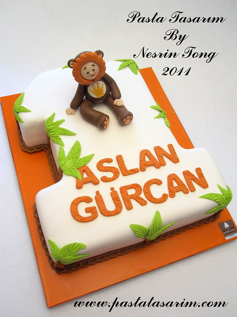 BABY LION CAKE- ASLAN GURCAN 1ST BIRTHDAY CAKE