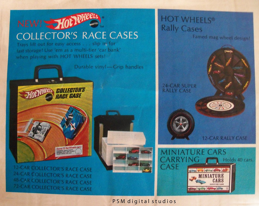 Mattel Hot Wheels 1970 Collectors Catalog Race Cases