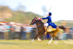 The Spirit Born People (gurbir singh brar) Tags: sport march traditional sikh panning equestrian bornfree 2010 khalsa nihang holamohalla gurbirsinghbrar thespiritbornpeople