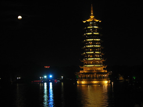 Guilin - Pagodas en la plaza central