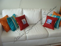 Almofadas vintage by Atelier Lucimara Santana (Atelier Lucimara Santana) Tags: vintage marilynmonroe patchwork almofadas