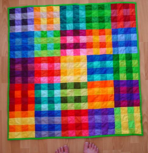 plaid baby quilt