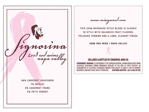 5447913271 a1d3907b5a Make $100 Donation to Fight Breast Cancer & Get My New Wine, Signorina