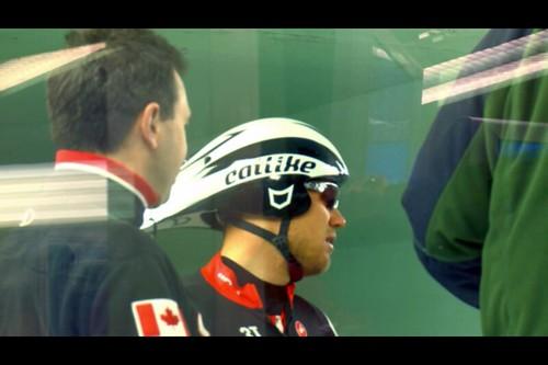 Cervélo Test Team 多分フースホフト Catlike社Chronoをかぶってる