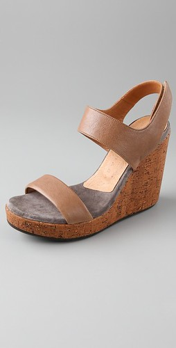didac 2 band wedge sandals