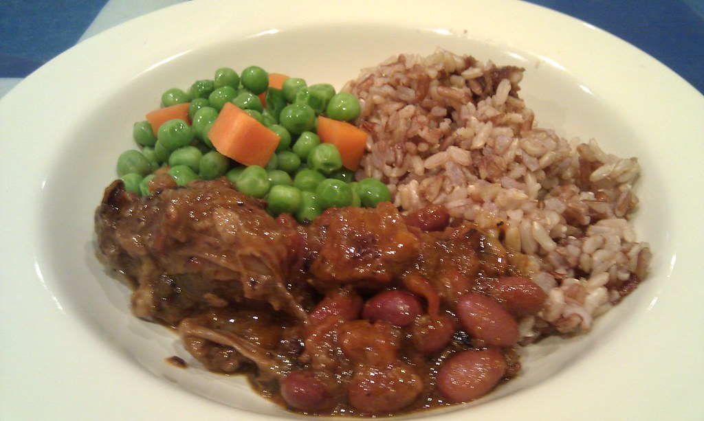 Osso Bucco with red kidney beans