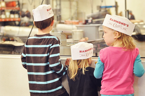 three kids in hats