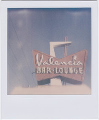 (Design.Her) Tags: newmexico film sign bar polaroid sx70 albuquerque retro instant instamatic onestep designher theimpossibleproject valenciabarandlounge px70colorshadepush