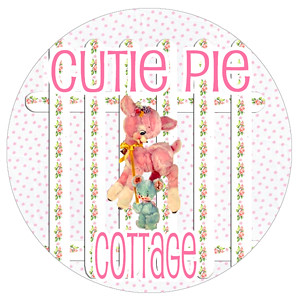 cutie pie cottage logo on tags